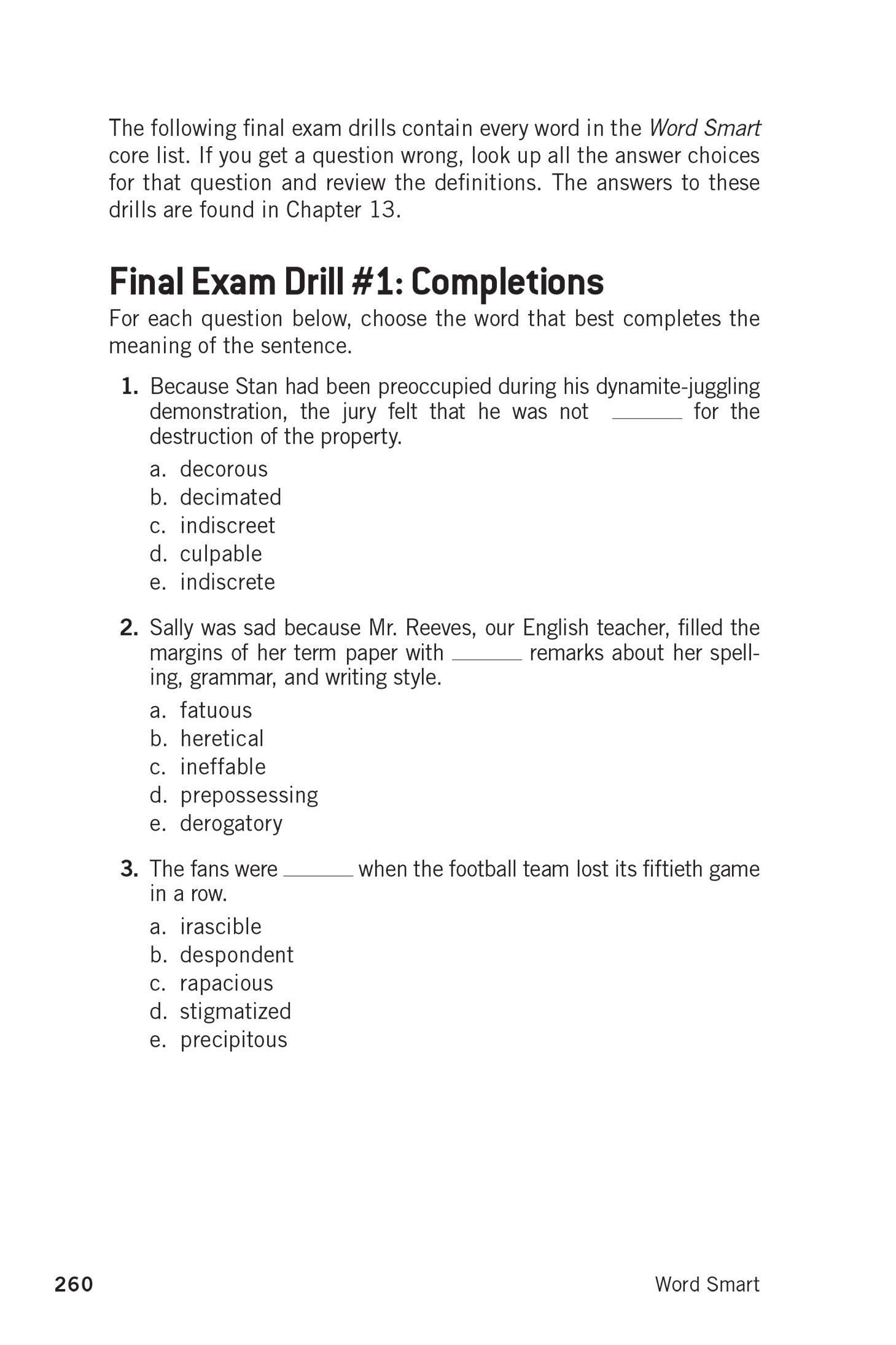Extended Ebook Content For Word Smart 6th Edition The Final Exam